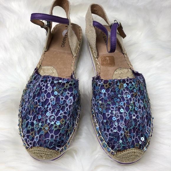 517601dc1d Joy   Mario Shoes - Joy   Mario Espadrilles Sequin Blue Purple sz 10w